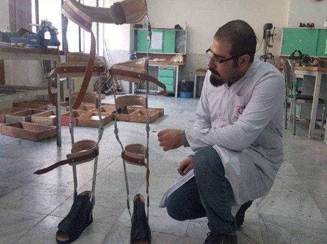 مهندس محسن بهادری همکار بخش ارتوز و پروتز مرکز رویش پرند
